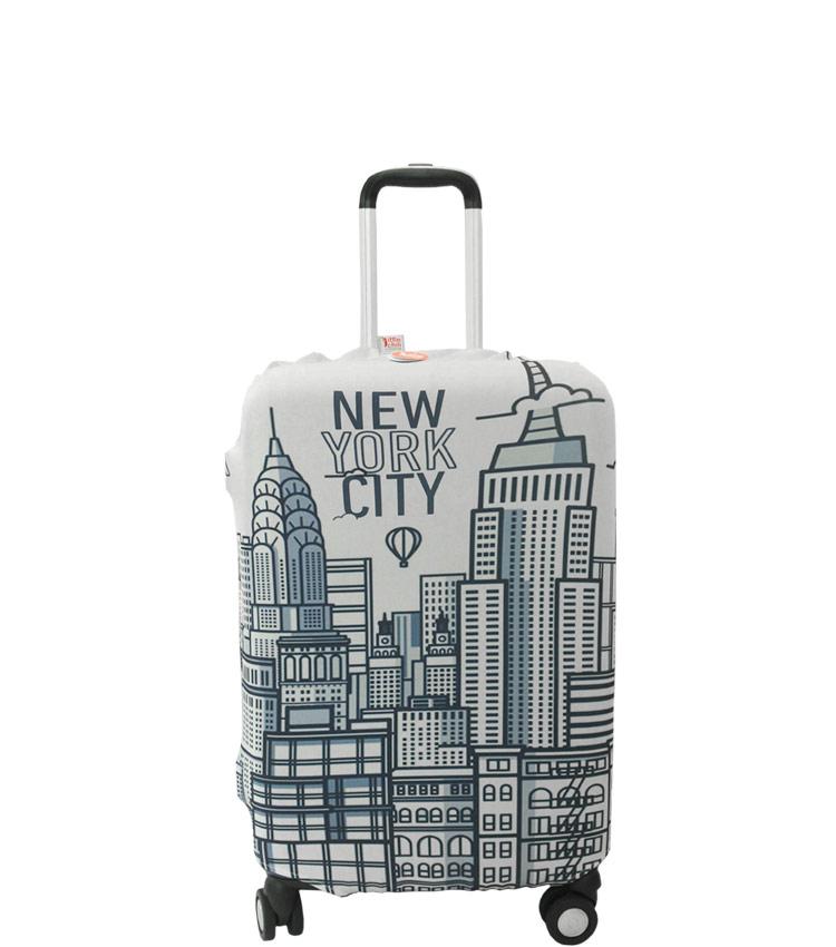 Чехол на чемодан Little Chili New York ~S~ (48–56 см)