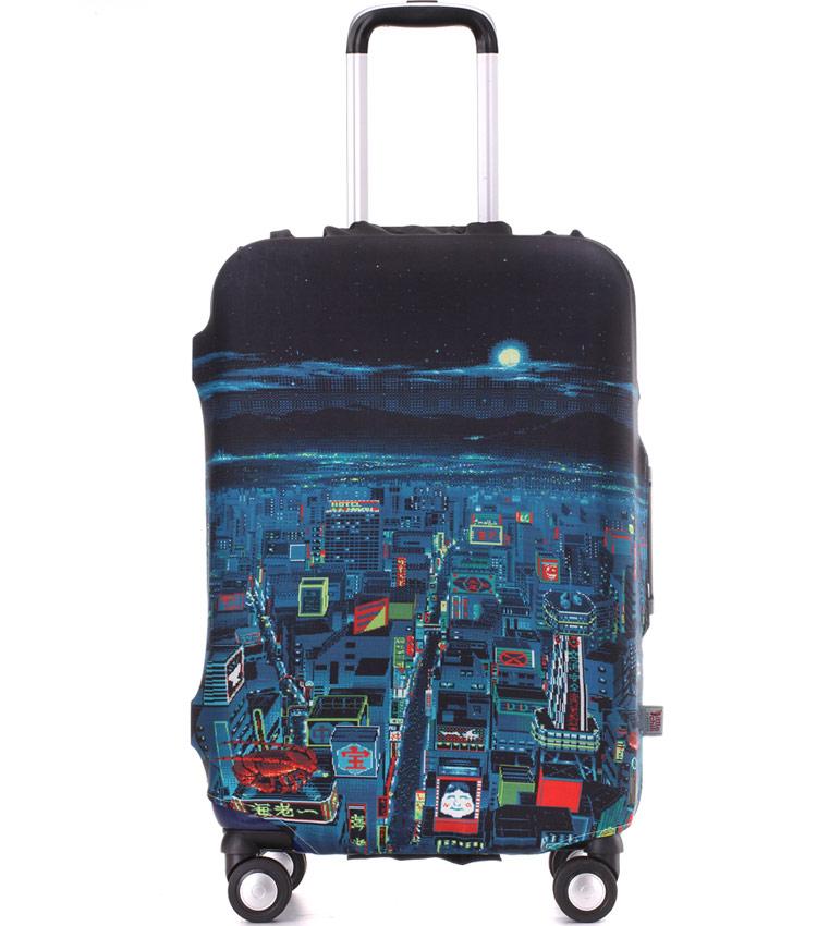 Чехол на чемодан Little Chili Night City ~M~ (55–67 см)