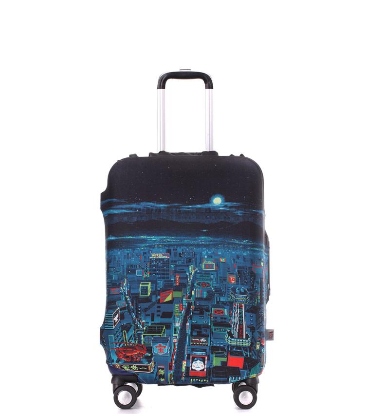 Чехол на чемодан Little Chili Night City ~S~ (48–56 см)
