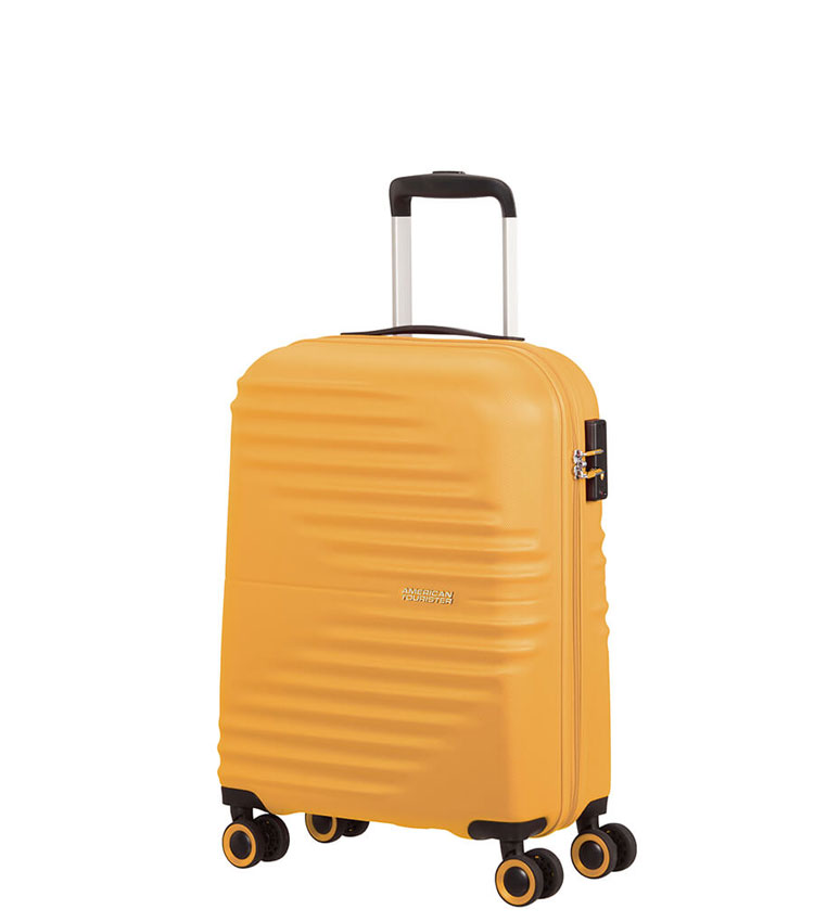 Малый чемодан American Tourister Wavetwister MA0*06001 (55 см) ~ручная кладь~ Sunset Yellow