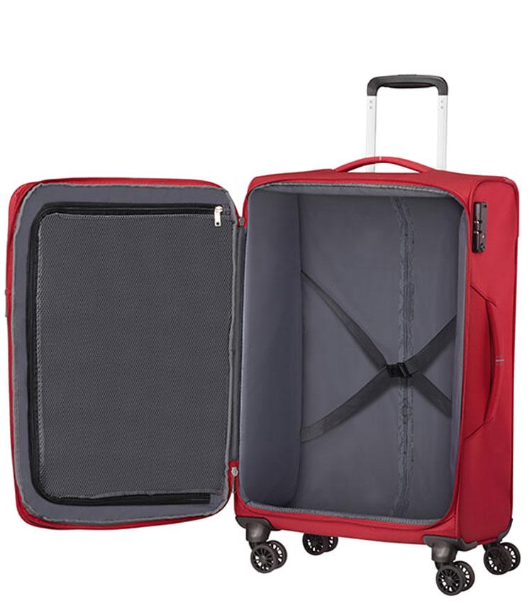 Средний чемодан American Tourister CROSSTRACK MA3*10003 (67 см) - Red/Grey
