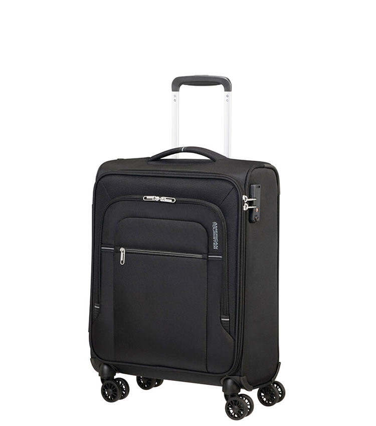Малый чемодан American Tourister CROSSTRACK MA3*19002 (55 см) ~ручная кладь~ Black/Grey