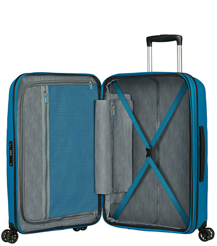 Средний чемодан American Tourister BON AIR DLX MB2*01002 (66 см) - Seaport Blue