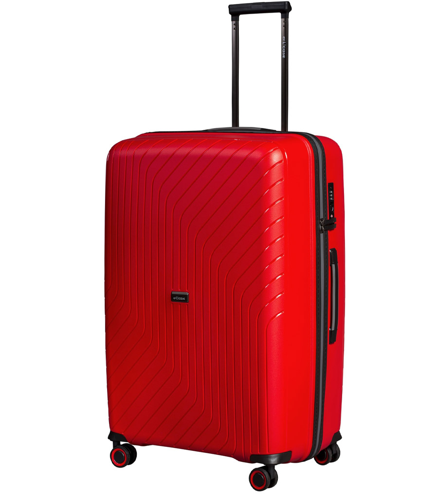Средний чемодан L-case MADRID red