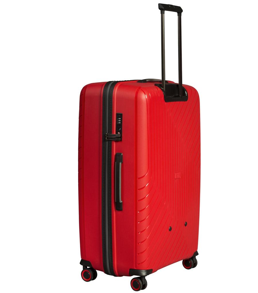 Большой чемодан L-case MADRID red