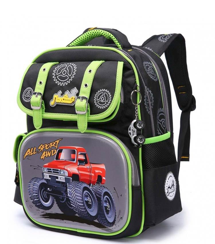 Школьный рюкзак Maksimm С057 black-green