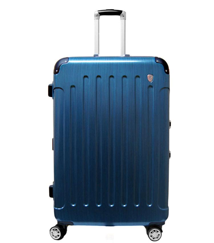 Средний чемодан спиннер Lcase Milan blue (68 см)