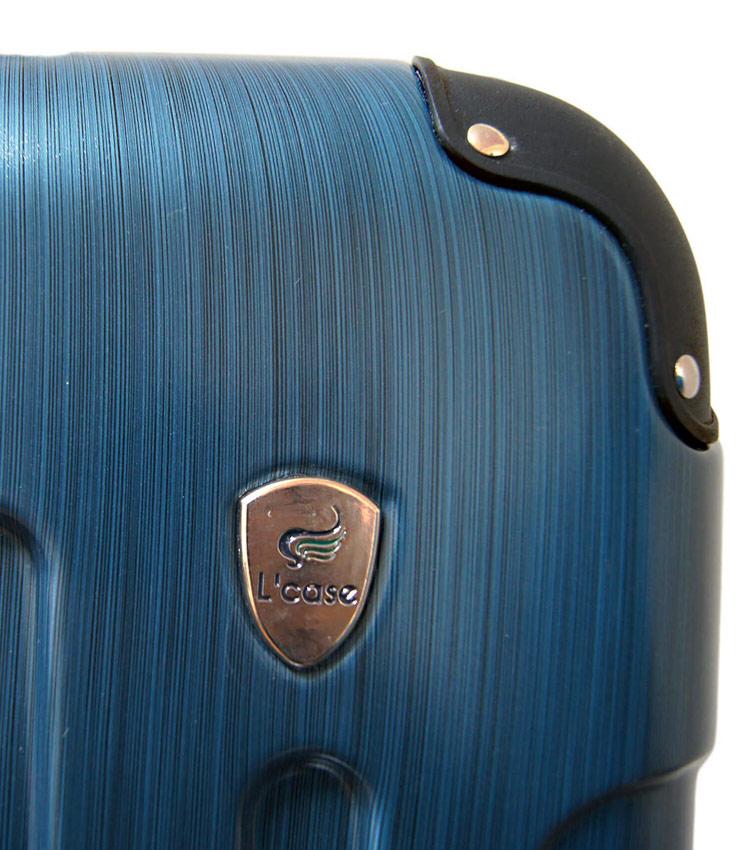 Малый чемодан спиннер Lcase Milan blue (58 см)
