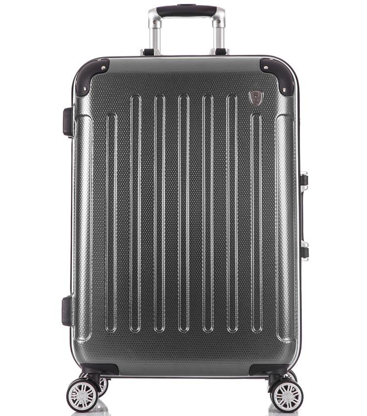 Большой чемодан спиннер Lcase Milan black (78 см)