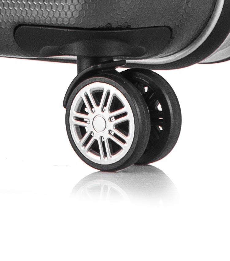 Малый чемодан спиннер Lcase Milan black (58 см)