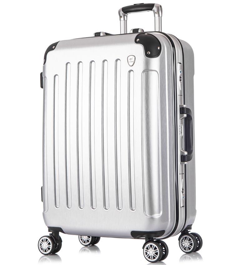 Большой чемодан спиннер Lcase Milan silver (78 см)