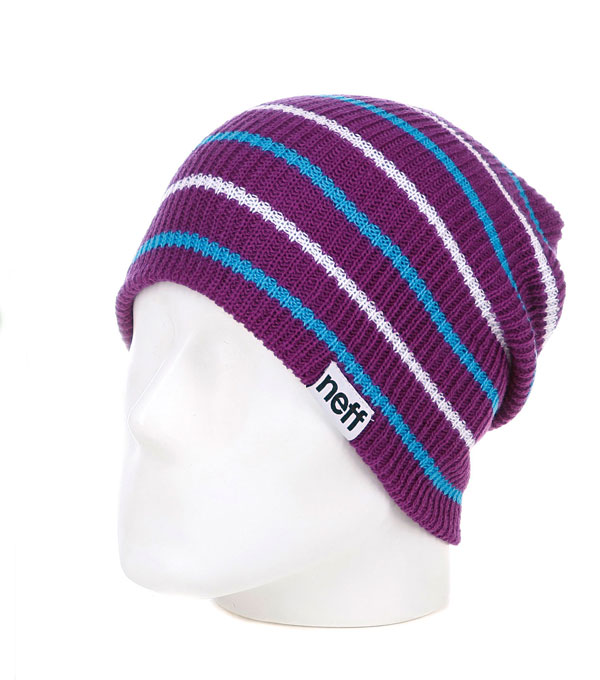 Шапка бини NEFF DAILY MULTISTRIPE purple