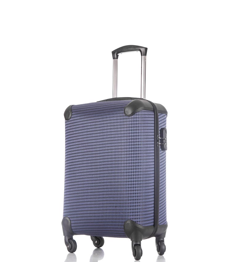Малый чемодан спиннер Lcase Paris navy (58 см)
