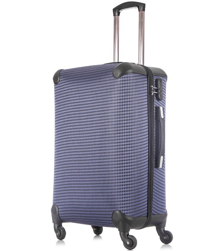 Средний чемодан спиннер Lcase Paris navy (68 см)
