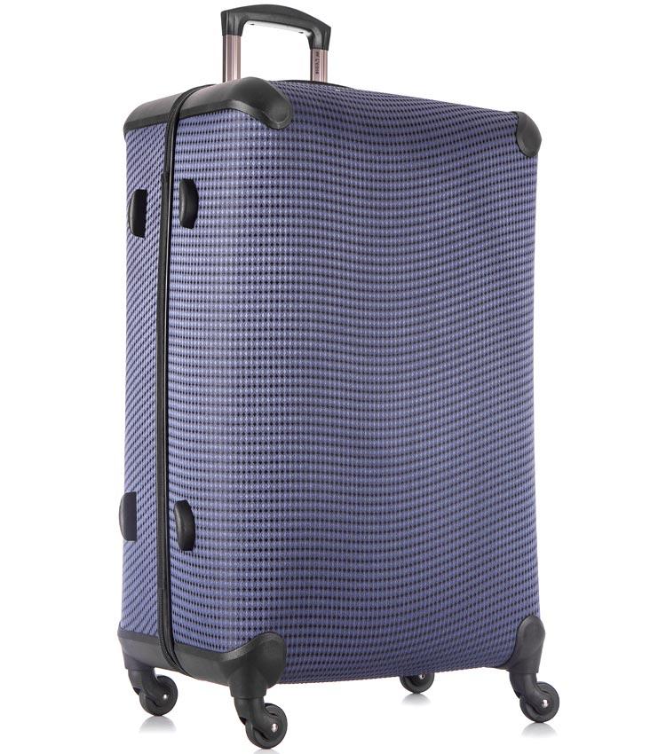 Большой чемодан спиннер Lcase Paris navy (78 см)