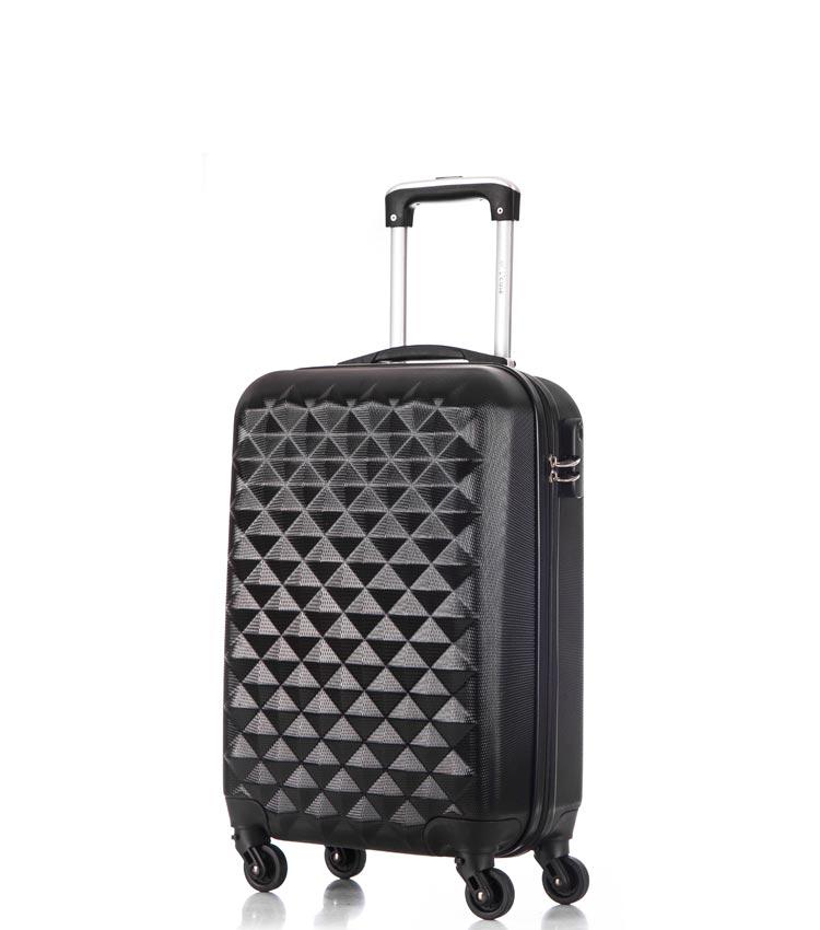 Малый чемодан спиннер Lcase Phatthaya black (60 см)