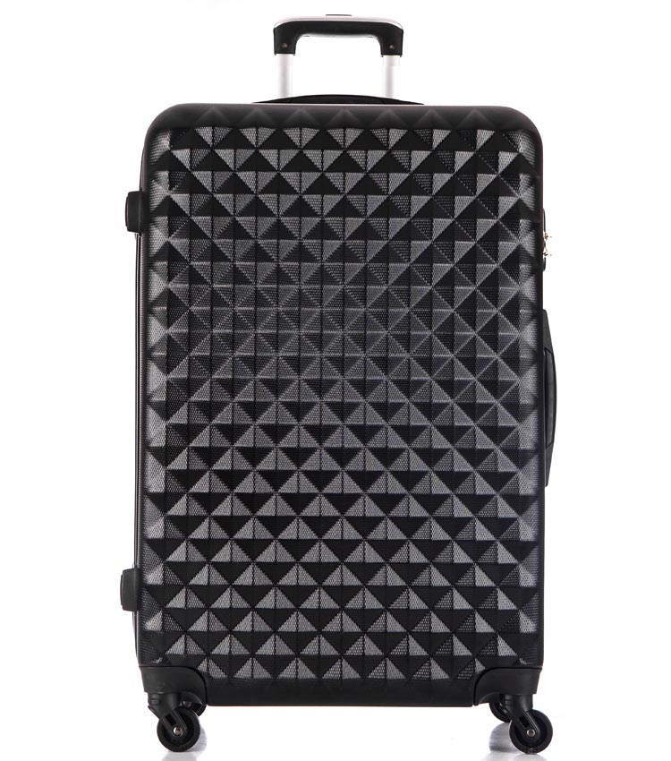 Большой чемодан спиннер Lcase Phatthaya black (76 см)