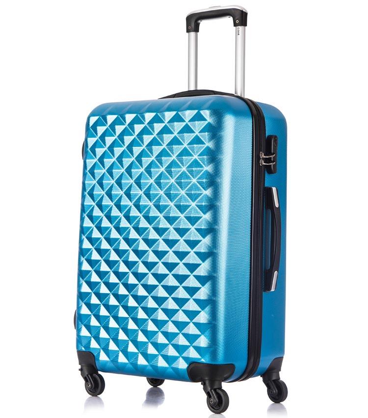 Средний чемодан спиннер Lcase Phatthaya blue (69 см)