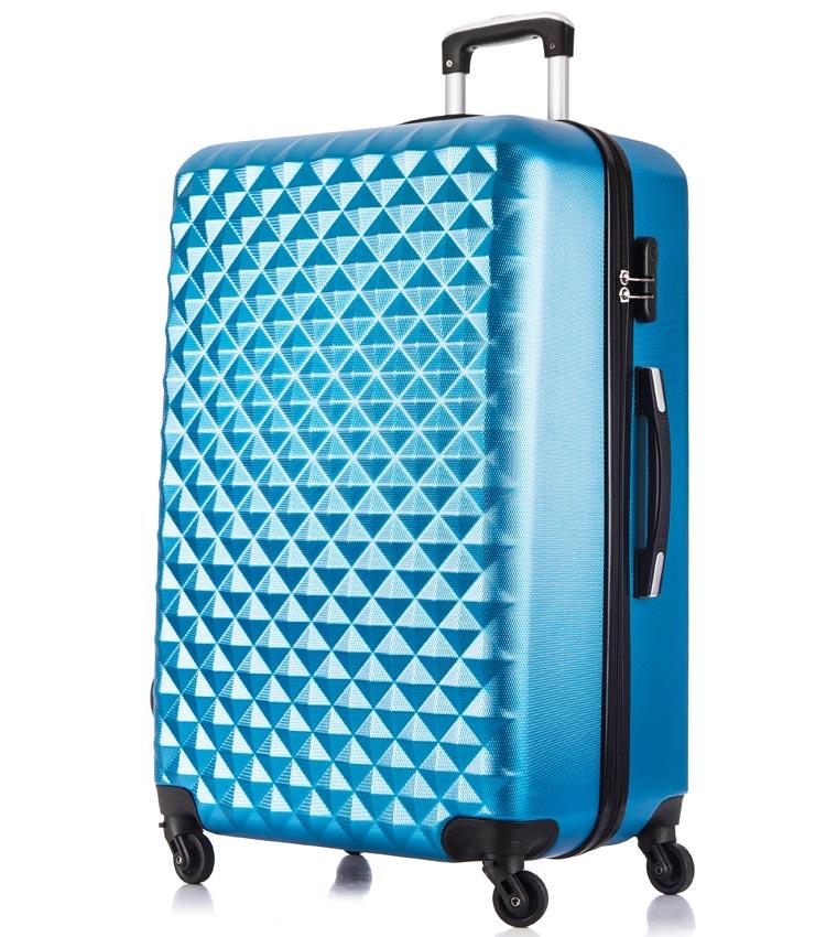 Большой чемодан спиннер Lcase Phatthaya blue (76 см)