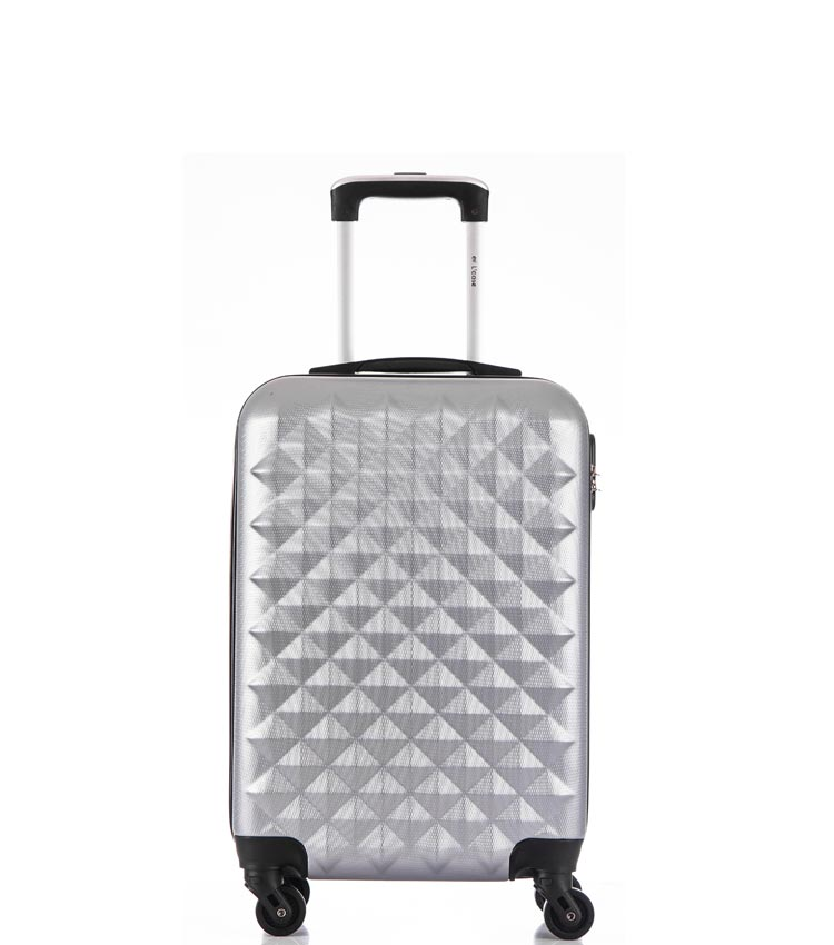 Малый чемодан спиннер Lcase Phatthaya light-grey (60 см)