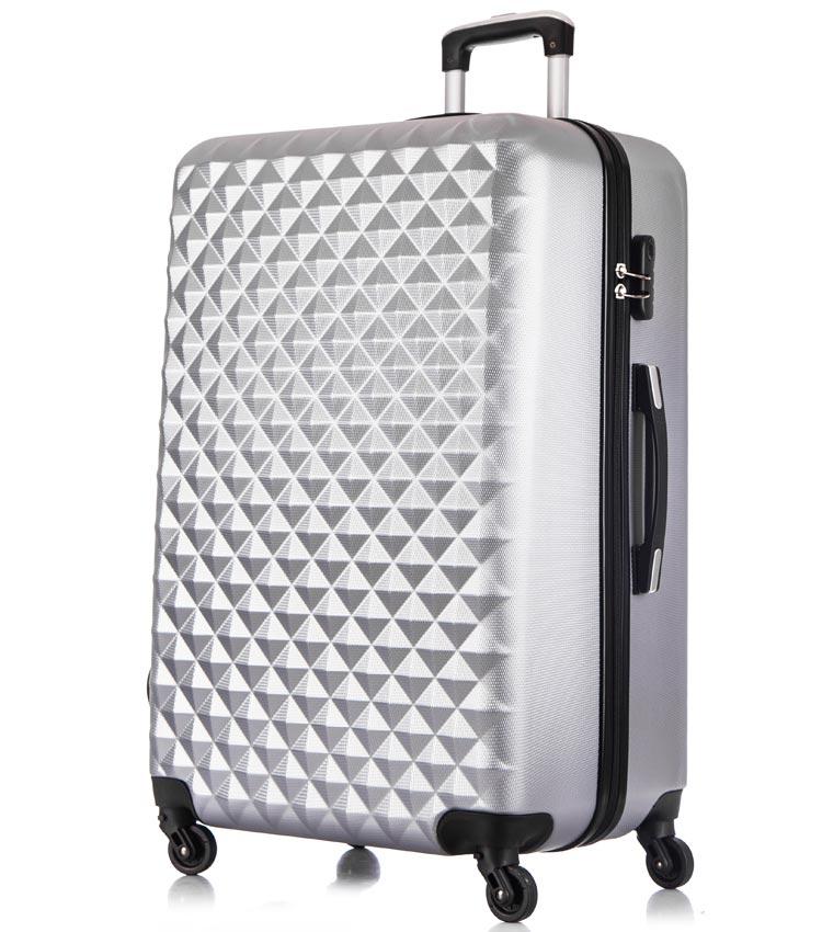 Большой чемодан спиннер Lcase Phatthaya light-grey (76 см)