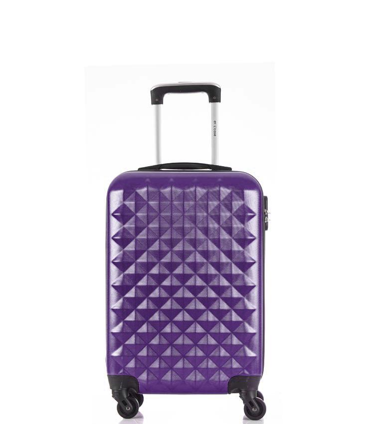 Малый чемодан спиннер Lcase Phatthaya purple (60 см)