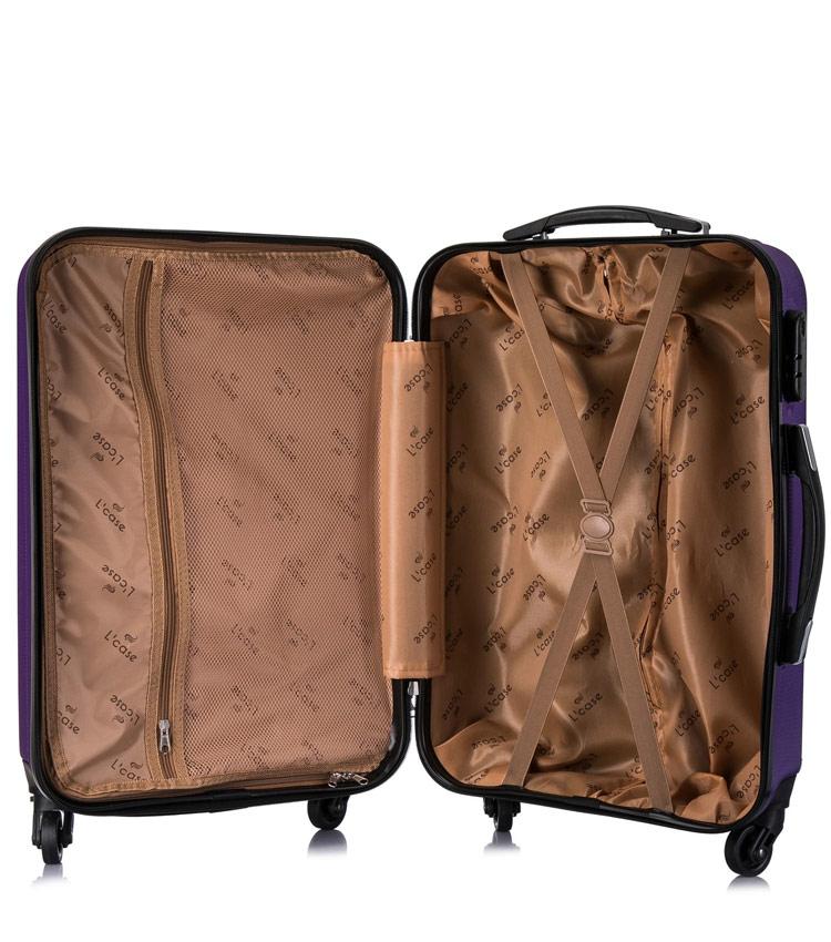 Средний чемодан спиннер Lcase Phatthaya purple (69 см)
