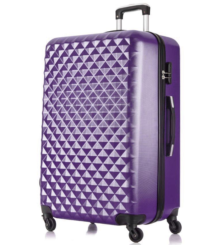 Большой чемодан спиннер Lcase Phatthaya purple (76 см)