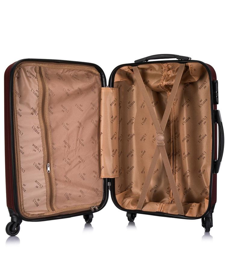 Большой чемодан спиннер Lcase Phatthaya wine (76 см)