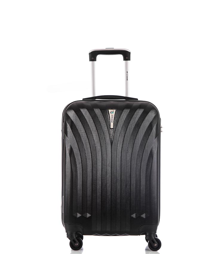 Малый чемодан спиннер Lcase Phuket black 60 см