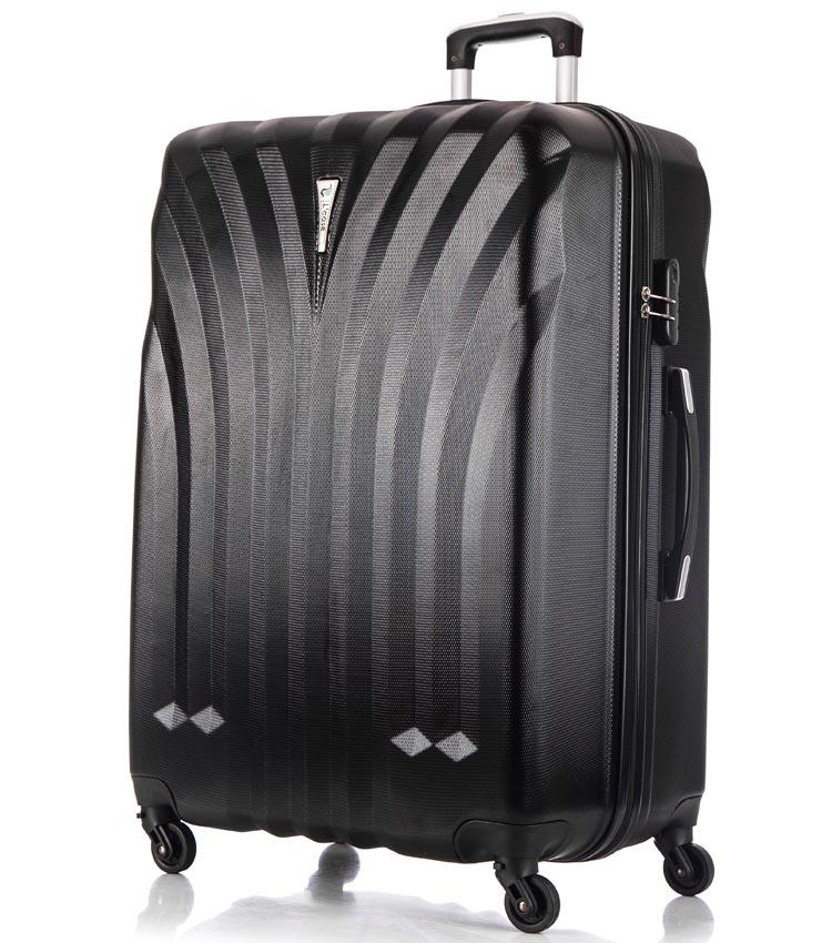 Большой чемодан спиннер Lcase Phuket black (76 см)