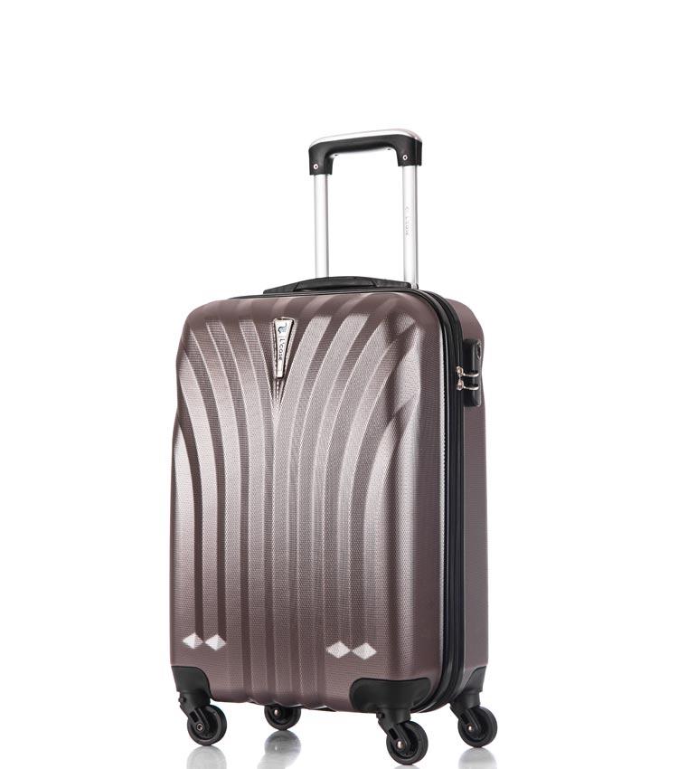 Малый чемодан спиннер Lcase Phuket coffe 60 см ~ручная кладь~