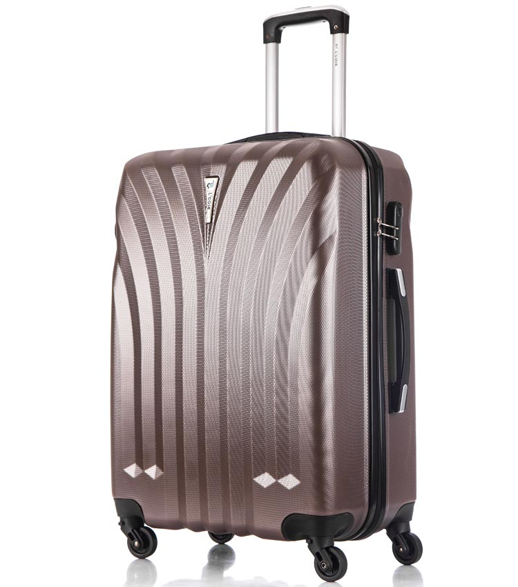 Средний чемодан спиннер Lcase Phuket coffe (69 см)