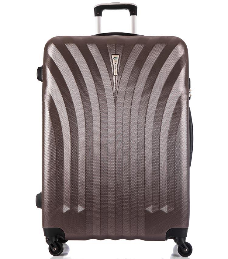 Большой чемодан спиннер Lcase Phuket coffe (76 см)