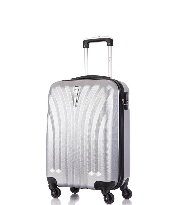 Малый чемодан спиннер Lcase Phuket light-grey 60 см