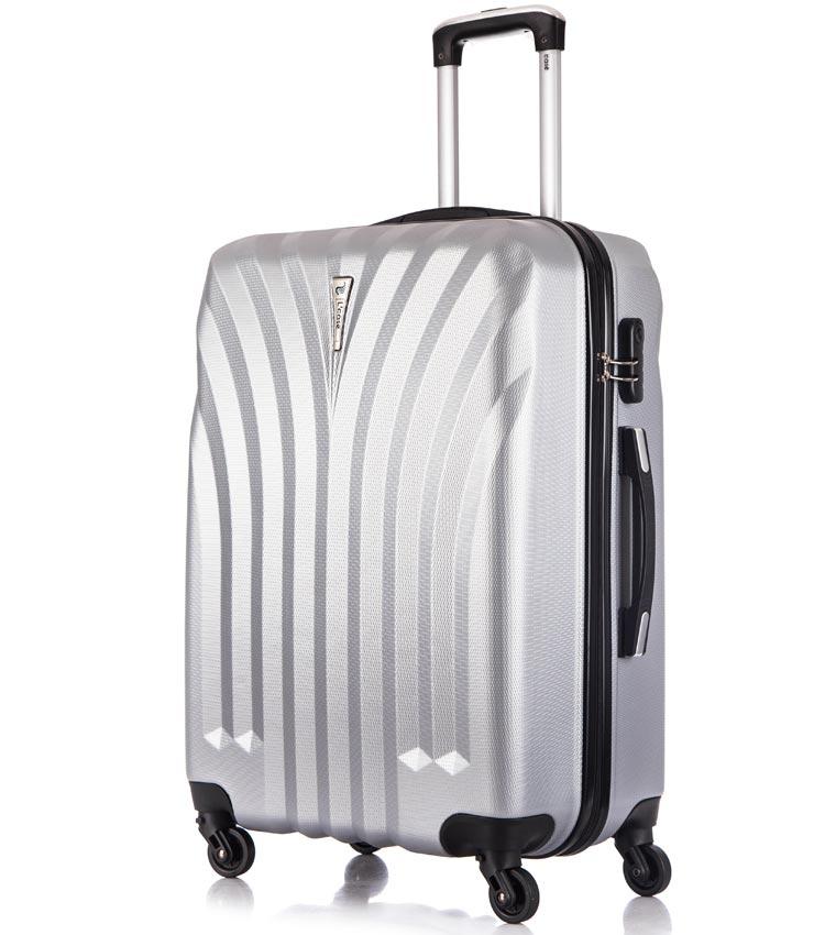 Средний чемодан спиннер Lcase Phuket light-grey (69 см)
