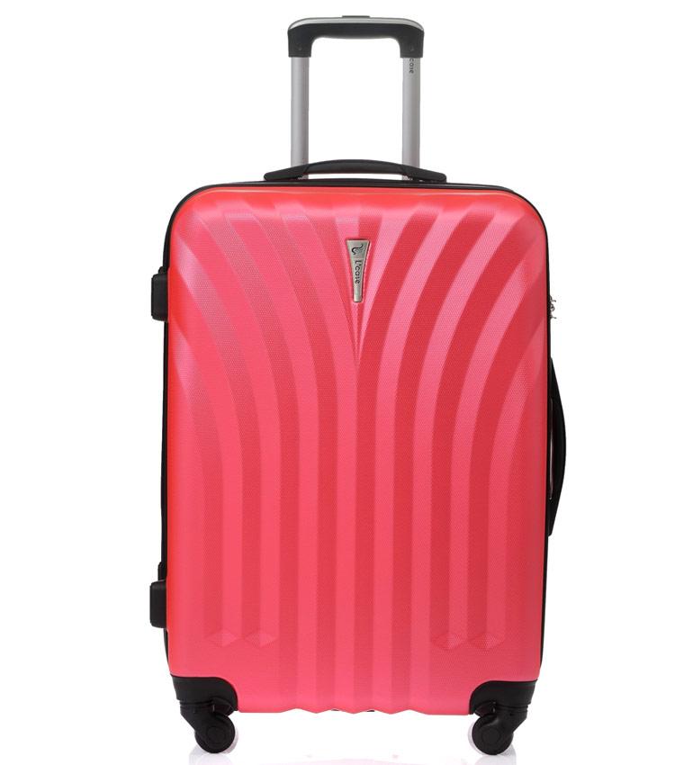 Средний чемодан спиннер Lcase Phuket peach pink (69 см)