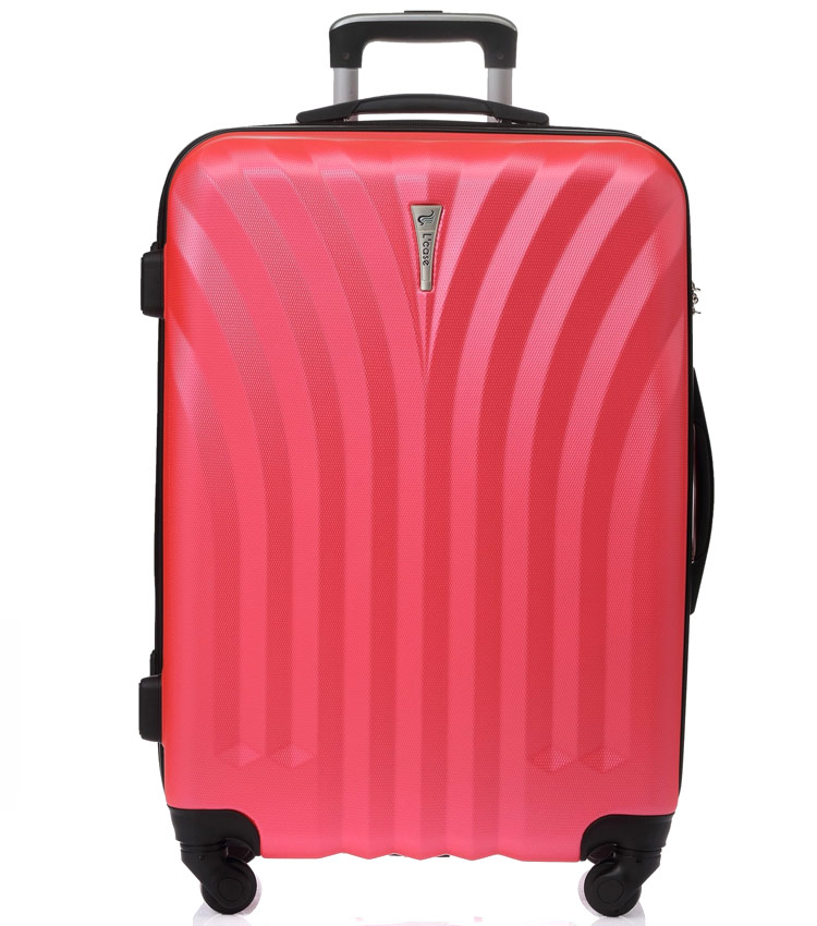 Большой чемодан спиннер Lcase Phuket peach pink (76 см)