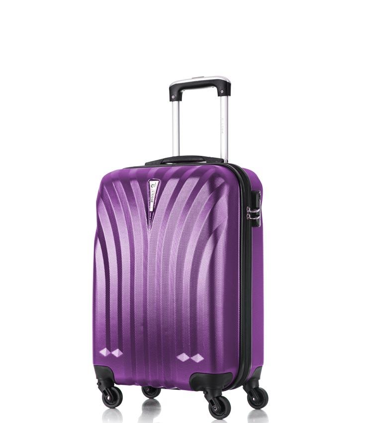 Малый чемодан спиннер Lcase Phuket purple 60 см