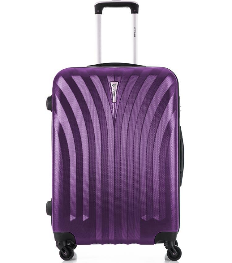 Средний чемодан спиннер Lcase Phuket purple (69 см)