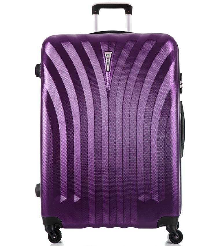Большой чемодан спиннер Lcase Phuket purple (76 см)