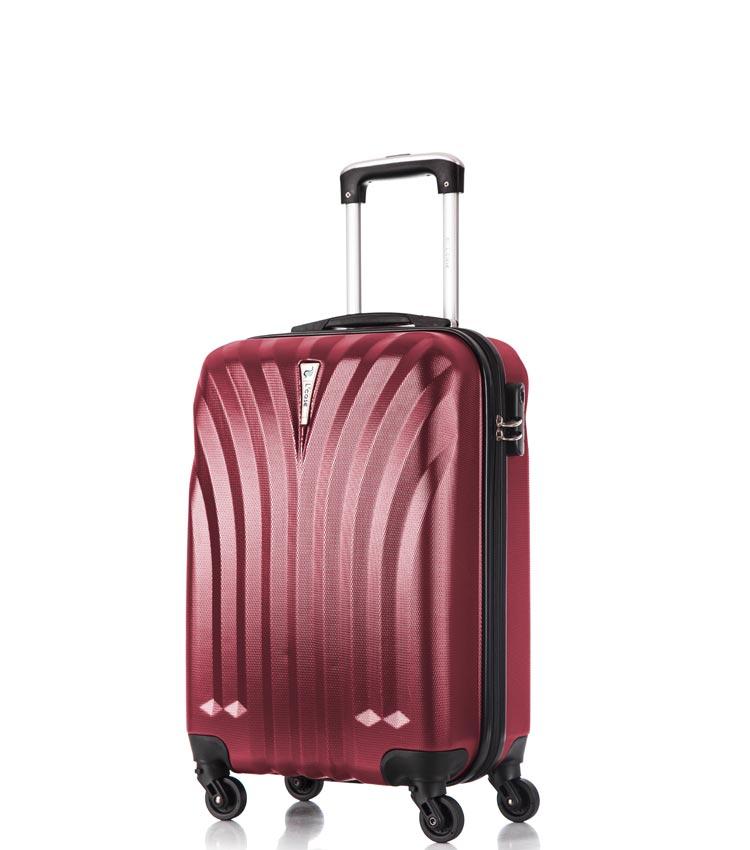 Малый чемодан спиннер Lcase Phuket wine 60 см