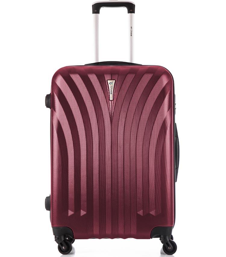 Средний чемодан спиннер Lcase Phuket wine (69 см)