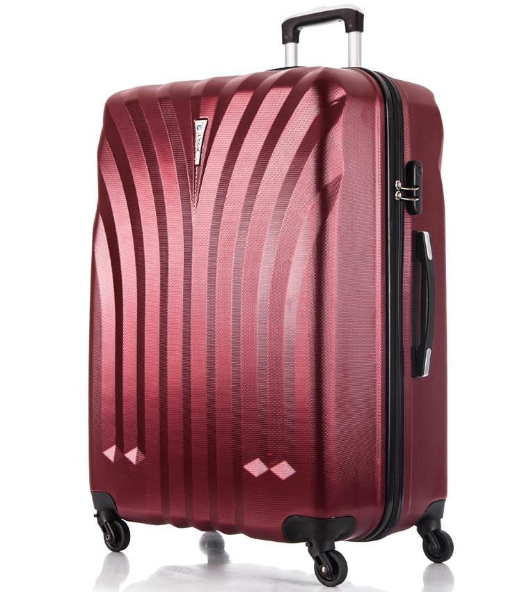 Большой чемодан спиннер Lcase Phuket wine (76 см)