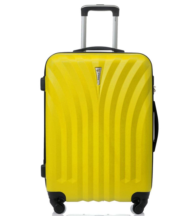 Средний чемодан спиннер Lcase Phuket yellow (69 см)