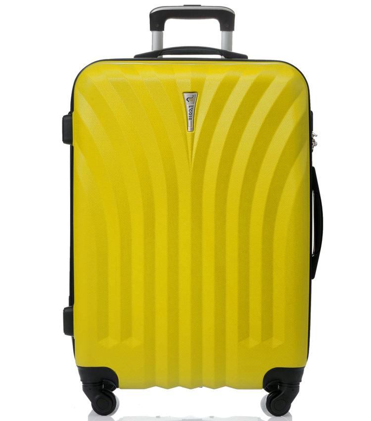 Большой чемодан спиннер Lcase Phuket yellow (76 см)