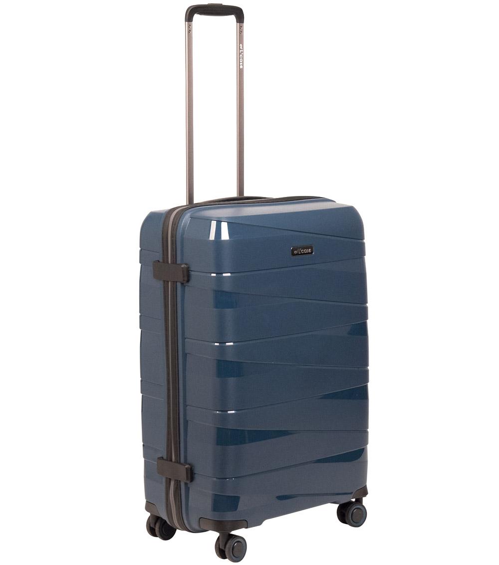 Большой чемодан L-case Prague blue