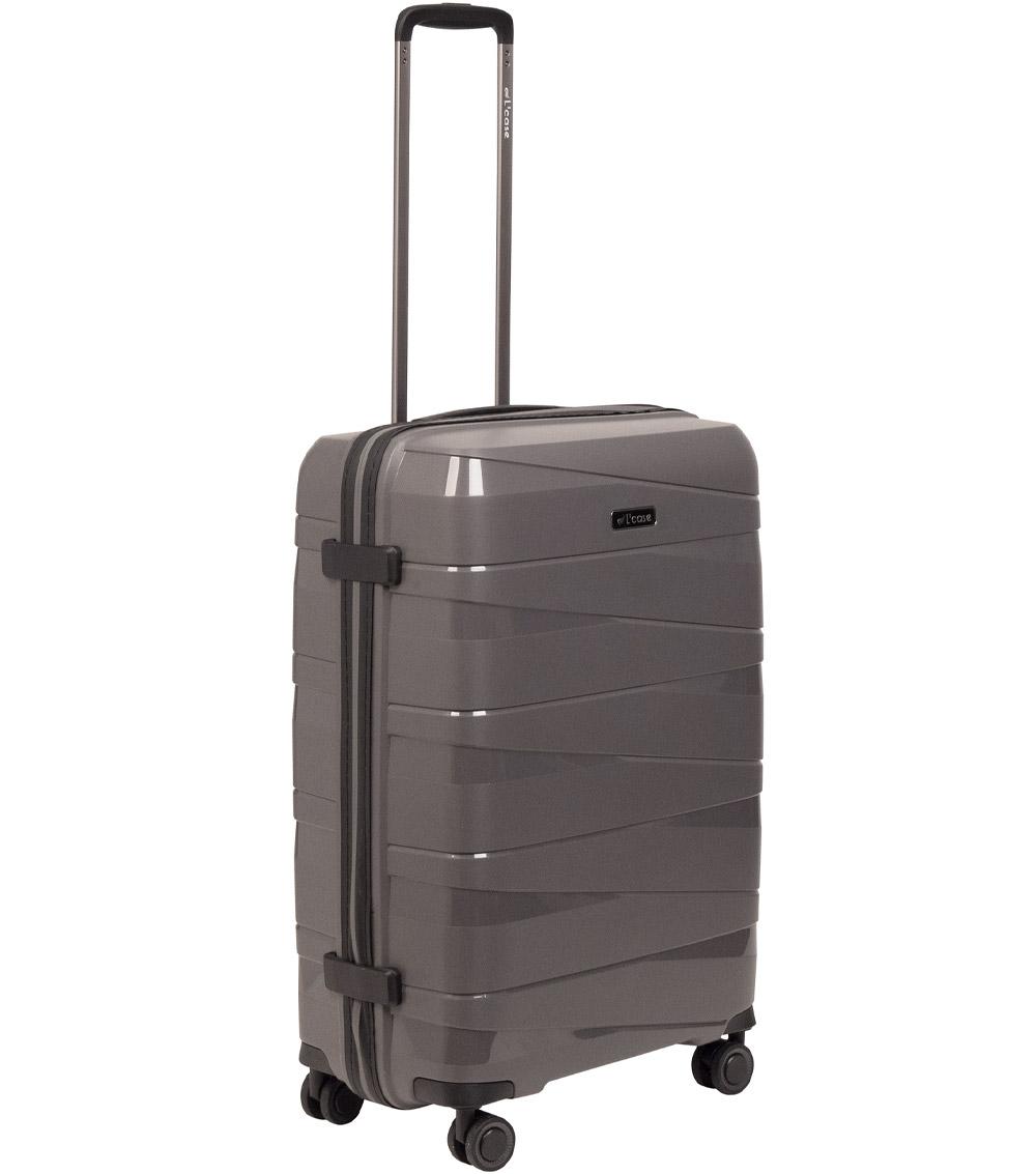 Средний чемодан L-case Prague darkgrey
