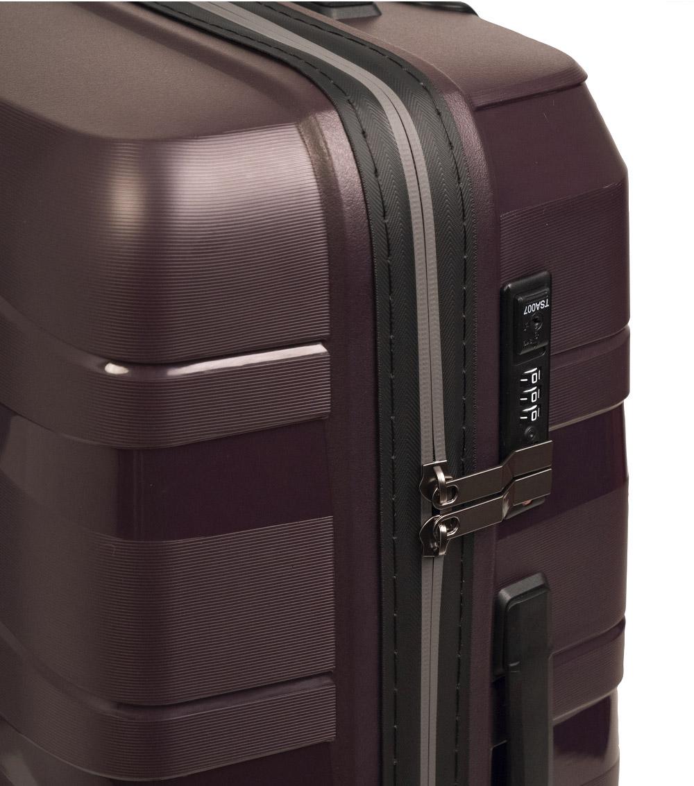 Средний чемодан L-case Prague purple