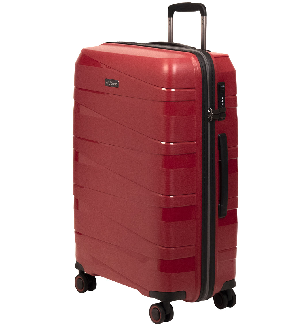 Большой чемодан L-case Prague red